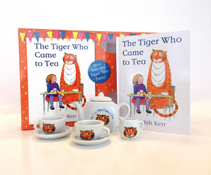 The Tiger Who Came to Tea tea set by Judith Kerr